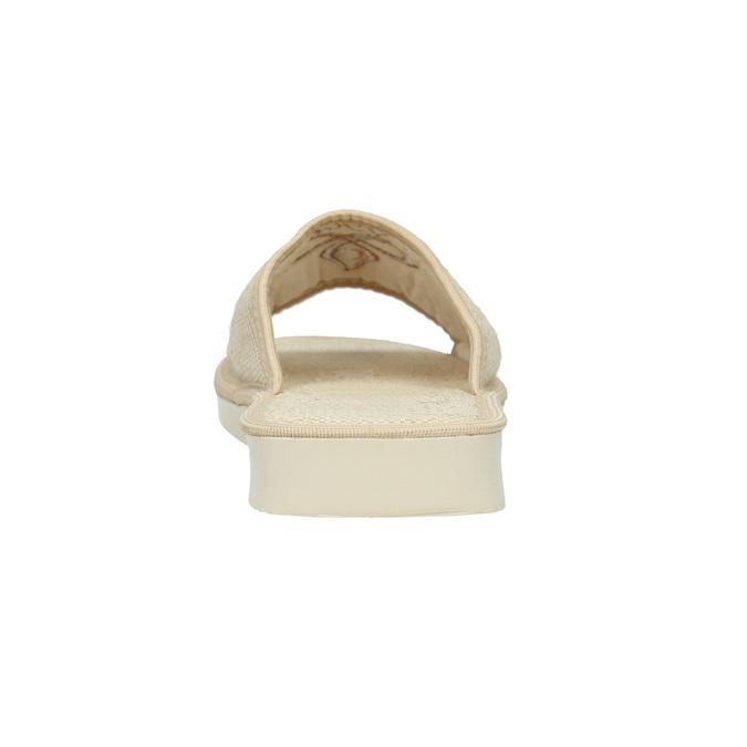 Kapcie damskie bata, beżowy, 579-8619 - 17
