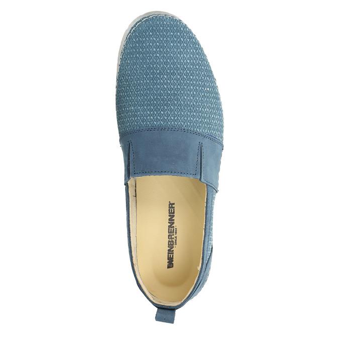Niebieskie slip-on ze skóry weinbrenner, niebieski, 513-9263 - 19