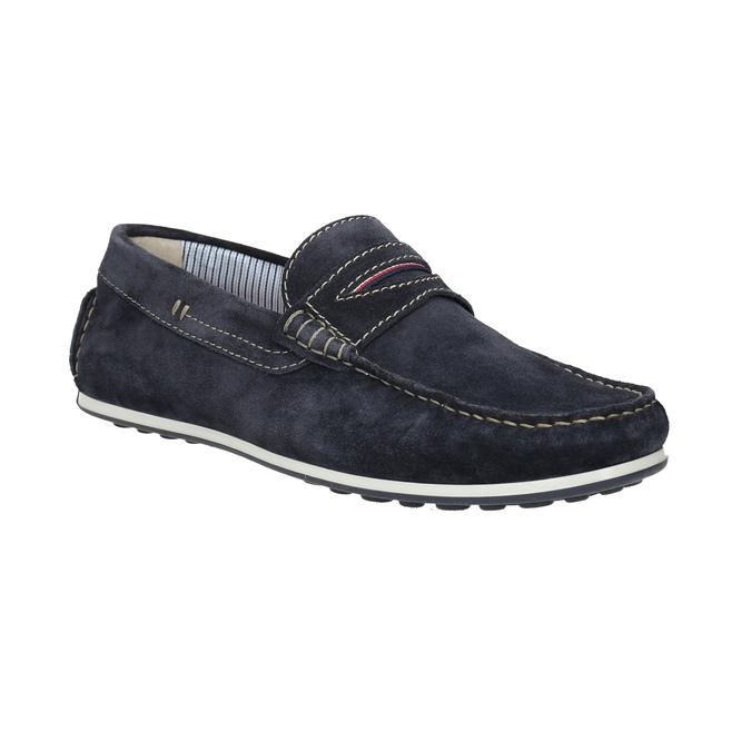 Zamszowe mokasyny bata, niebieski, 853-9614 - 13