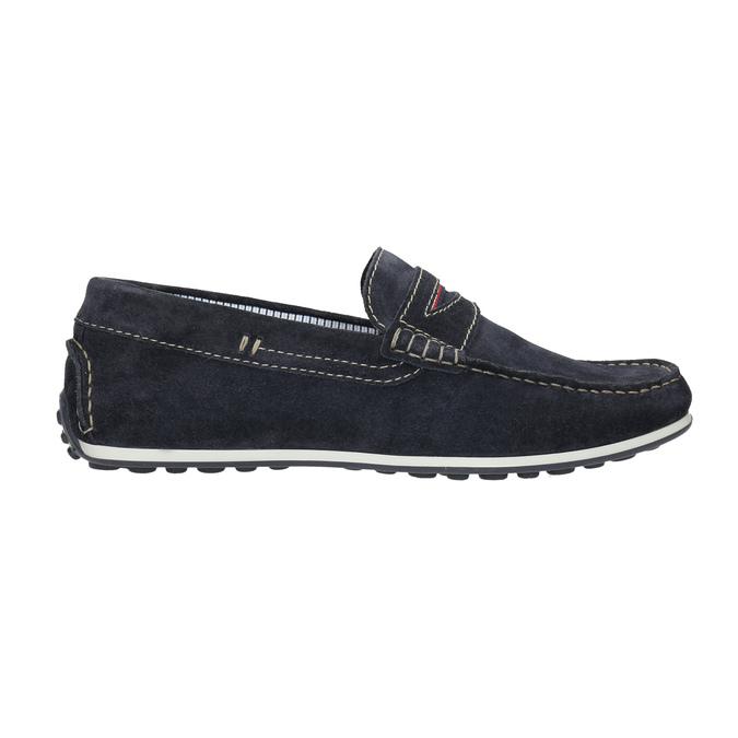 Zamszowe mokasyny bata, niebieski, 853-9614 - 15