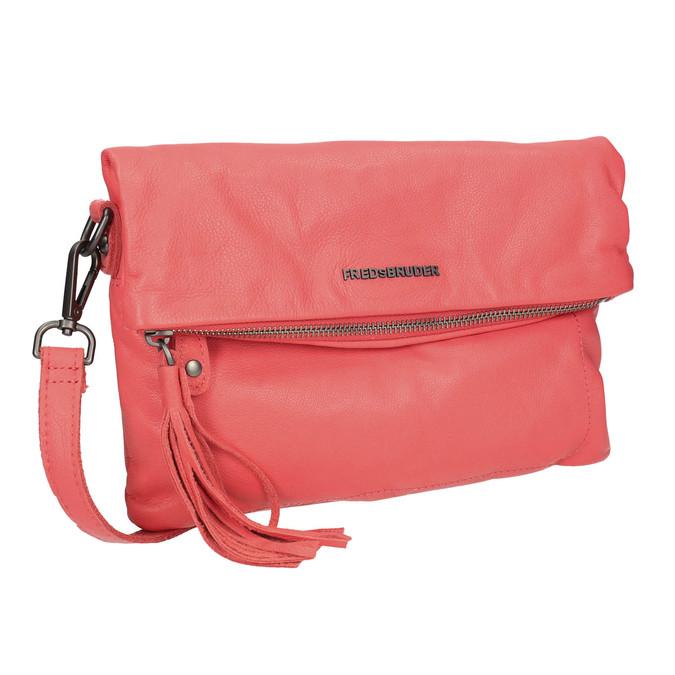 Skórzana torba damska typu crossbody fredsbruder, czerwony, 964-5037 - 13