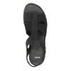 Skórzane sandały na koturnach bata, czarny, 666-6609 - 19