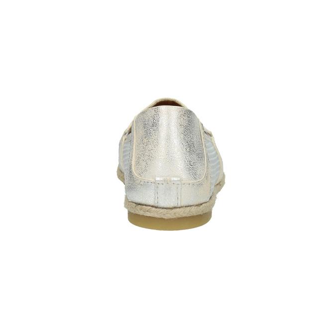 Skórzane slip-on damskie bata, biały, 516-1604 - 17