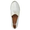 Skórzane slip-on damskie bata, biały, 516-1604 - 19