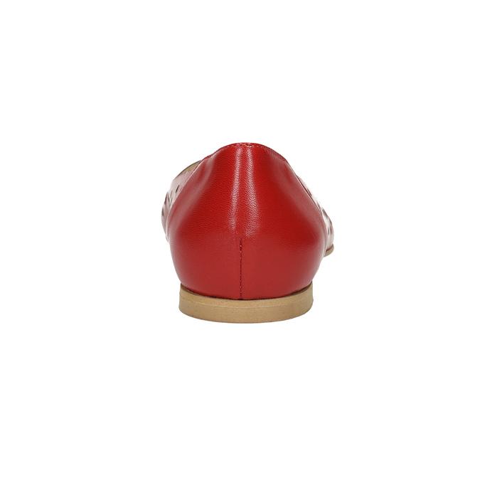 Czerwone skórzane baleriny bata, czerwony, 524-5604 - 17