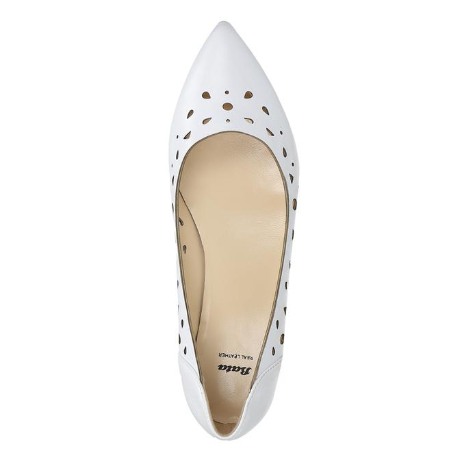 Białe skórzane baleriny bata, biały, 524-1604 - 26