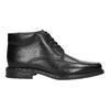 Skórzane ocieplane buty za kostkę bata, czarny, 894-6640 - 15