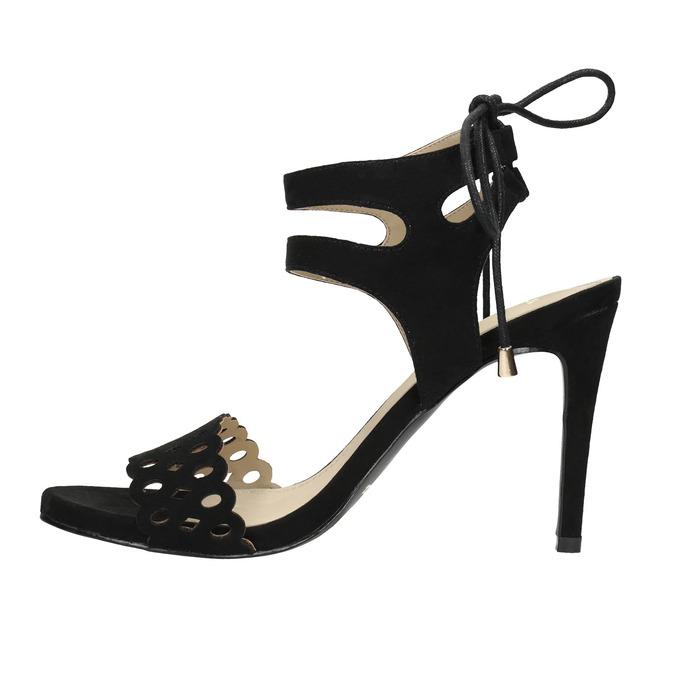 Czarne sandały na szpilce bata, czarny, 769-6603 - 26