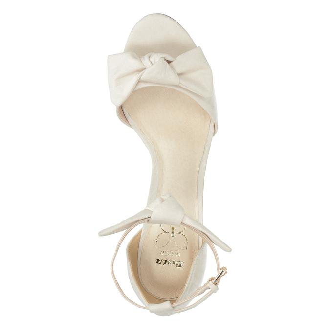 Sandały damskie zkokardami insolia, biały, 769-1614 - 19