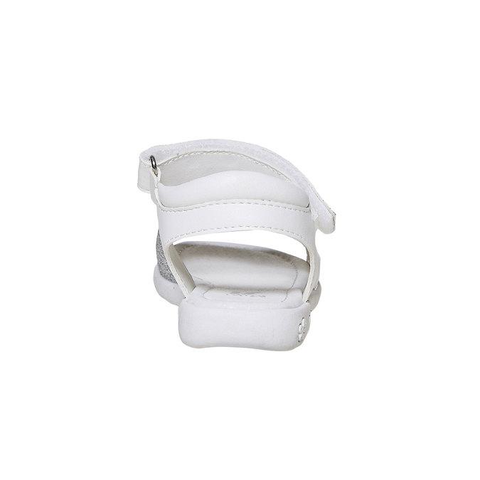 Białe sandały dziecięce zbrokatem mini-b, biały, 261-1188 - 17