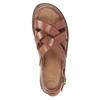 Brązowe skórzane sandały męskie bata, brązowy, 866-3602 - 17