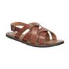 Brązowe skórzane sandały męskie bata, brązowy, 866-3602 - 13