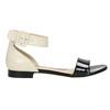 Lakierowane skórzane sandały bata, czarny, 568-6606 - 15