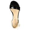 Lakierowane skórzane sandały bata, czarny, 568-6606 - 19