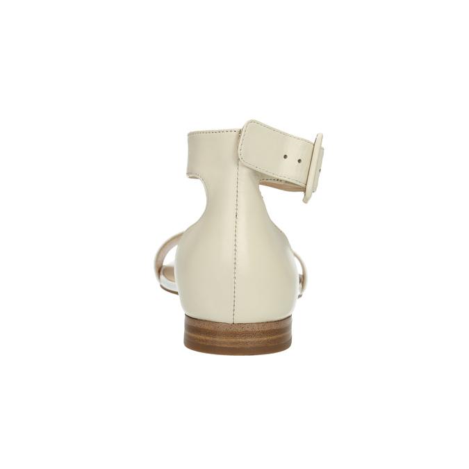 Skórzane sandały damskie bata, biały, 568-1606 - 17