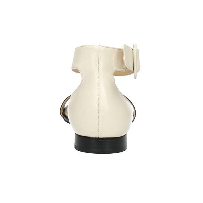 Lakierowane skórzane sandały bata, czarny, 568-6606 - 17