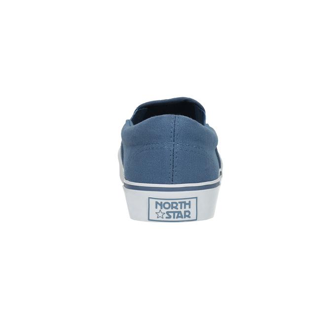 Niebieskie obuwie typu slip-on north-star, niebieski, 889-9286 - 17
