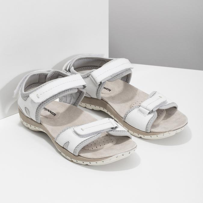 Skórzane sandały damskie wstylu outdoor weinbrenner, biały, 566-1608 - 26