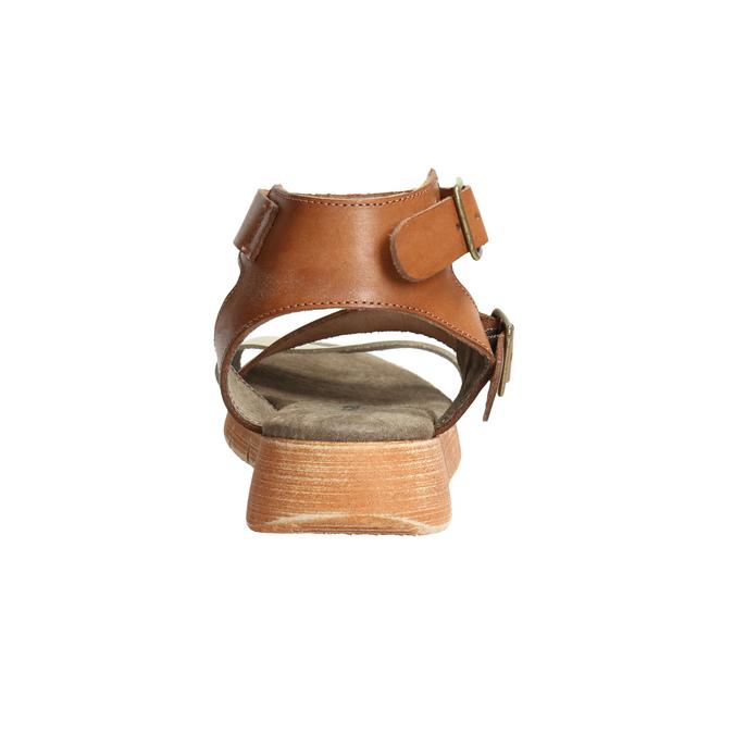 Skórzane sandały na kontrastowej podeszwie weinbrenner, brązowy, 566-4627 - 17