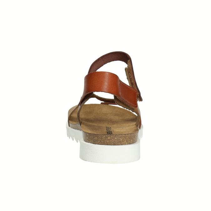 Skórzane sandały damskie weinbrenner, brązowy, 566-4630 - 17