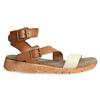 Skórzane sandały na kontrastowej podeszwie weinbrenner, brązowy, 566-4627 - 15