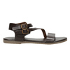 Brązowe sandały ze skóry bata, brązowy, 566-4613 - 15