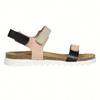Skórzane sandały damskie na rzepy weinbrenner, różowy, 566-3630 - 15