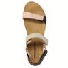 Skórzane sandały damskie na rzepy weinbrenner, różowy, 566-3630 - 19