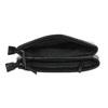 Mała czarna torebka zklapą bata, czarny, 961-6731 - 15