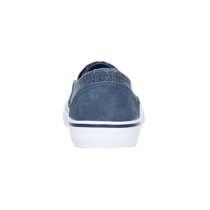 Obuwie dziewczęce typu slip-on mini-b, niebieski, 329-9611 - 17