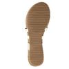 Korkowe sandały zpaskiem między palcami bata, biały, 561-1606 - 26