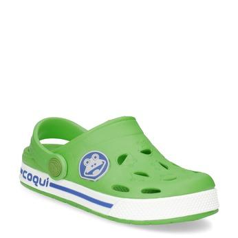 Zielone sandały dziecięce zżabkami coqui, zielony, 272-7603 - 13