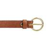Brązowy skórzany pasek damski bata, brązowy, 954-4197 - 26