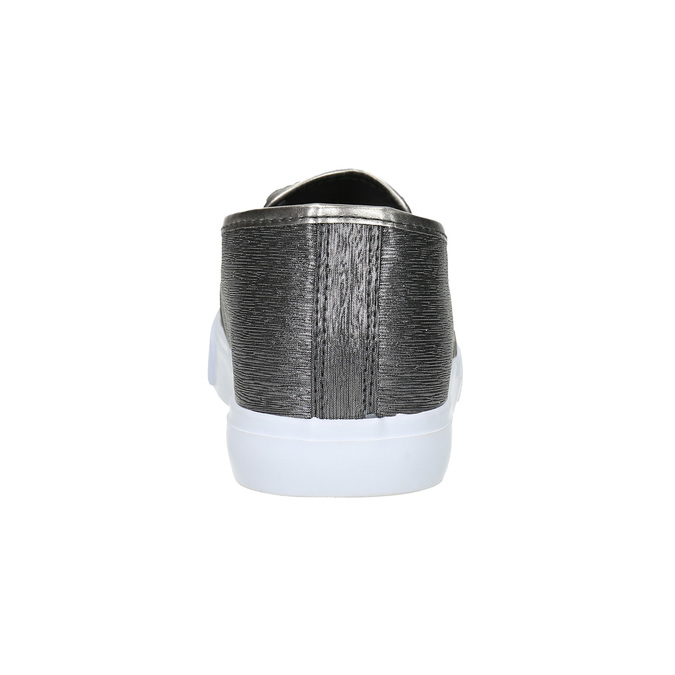 Slip-on damskie wdrobny wzór north-star, srebrny, 511-6605 - 17