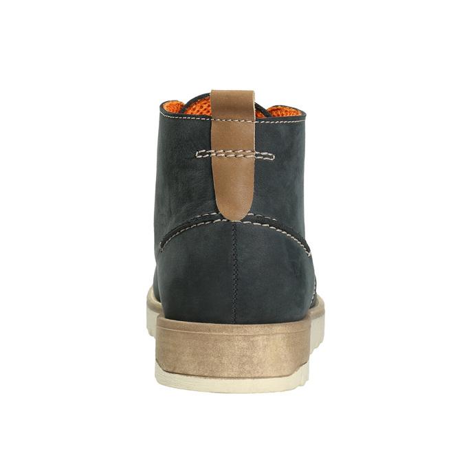 Męskie skórzane buty Chukka Boots weinbrenner, niebieski, 846-9629 - 16