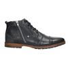 Skórzane buty za kostkę, zzamkami błyskawicznymi bata, niebieski, 826-9911 - 15