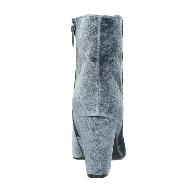 Aksamitne kozaki damskie bata, szary, 799-2616 - 17