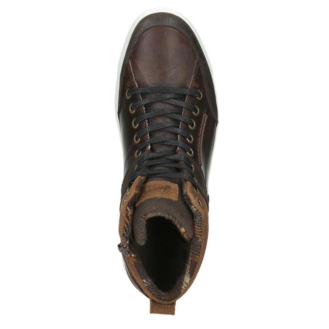 Skórzane trampki za kostkę bata, brązowy, 846-4640 - 26