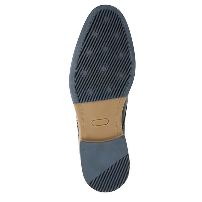 Nieformalne półbuty ze skóry bata, niebieski, 826-9910 - 19