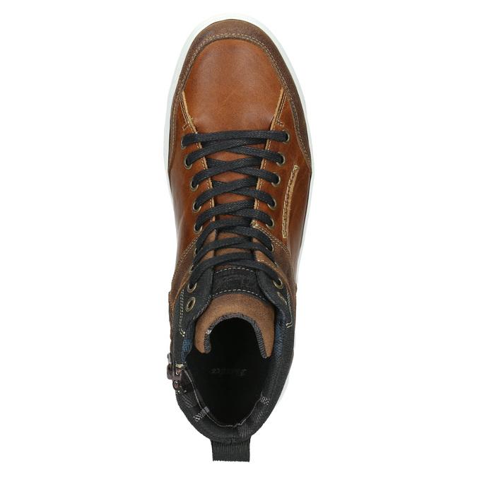 Skórzane trampki za kostkę bata, brązowy, 846-3640 - 26