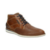 Nieformalne skórzane obuwie za kostkę bata, brązowy, 826-3912 - 13