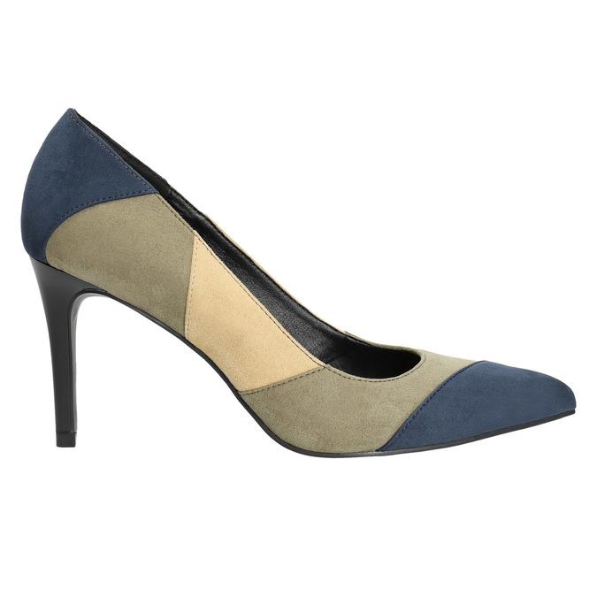 Czółenka damskie na szpilkach insolia, niebieski, 729-9607 - 15