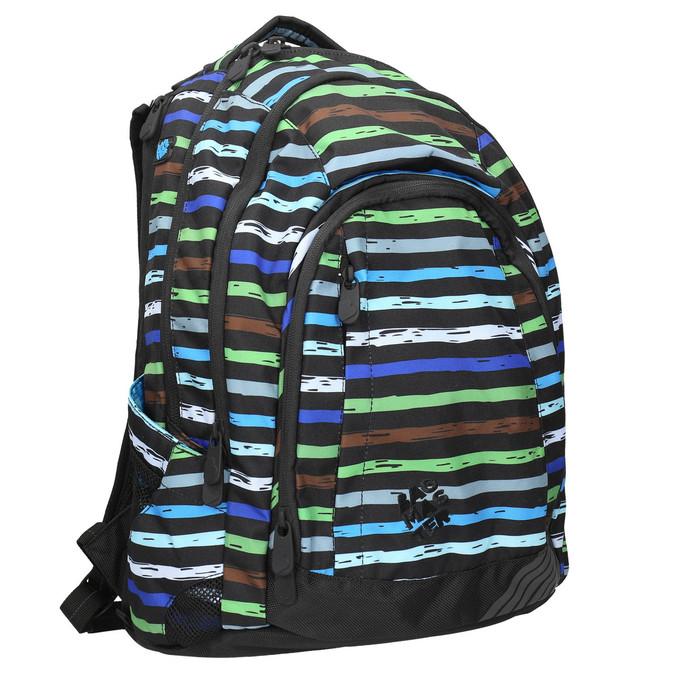 Plecak szkolny wpaski bagmaster, niebieski, 969-9651 - 13