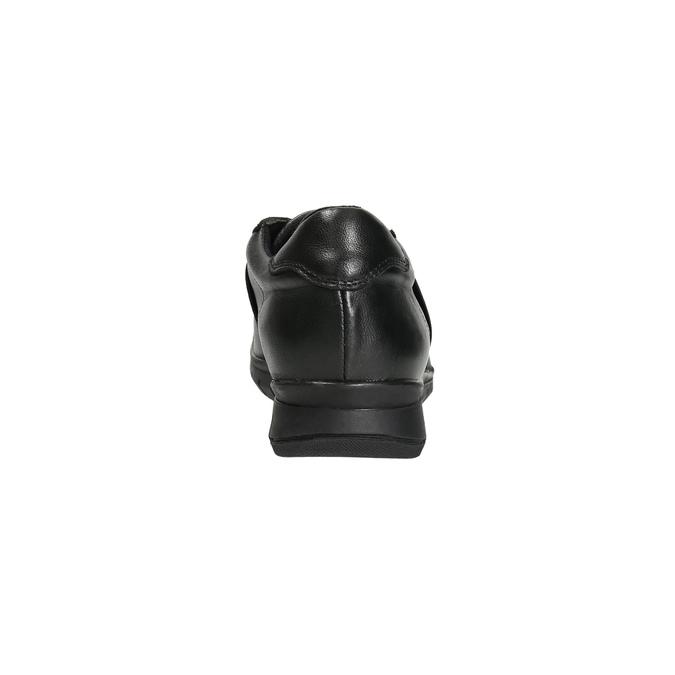 Nieformalne trampki ze skóry bata, czarny, 524-6606 - 17