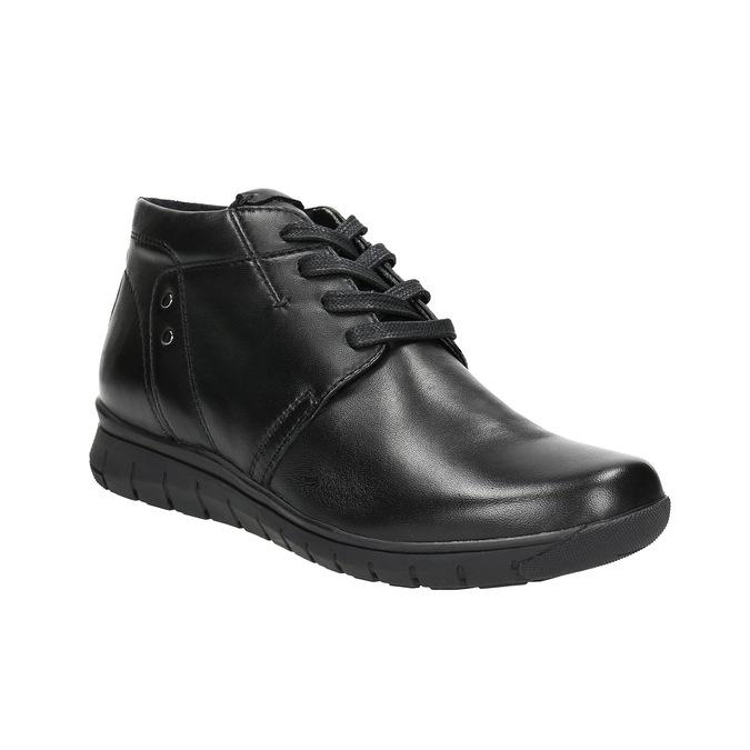 Skórzane botki bata, czarny, 524-6605 - 13