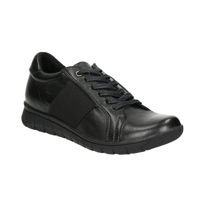 Nieformalne trampki ze skóry bata, czarny, 524-6606 - 13