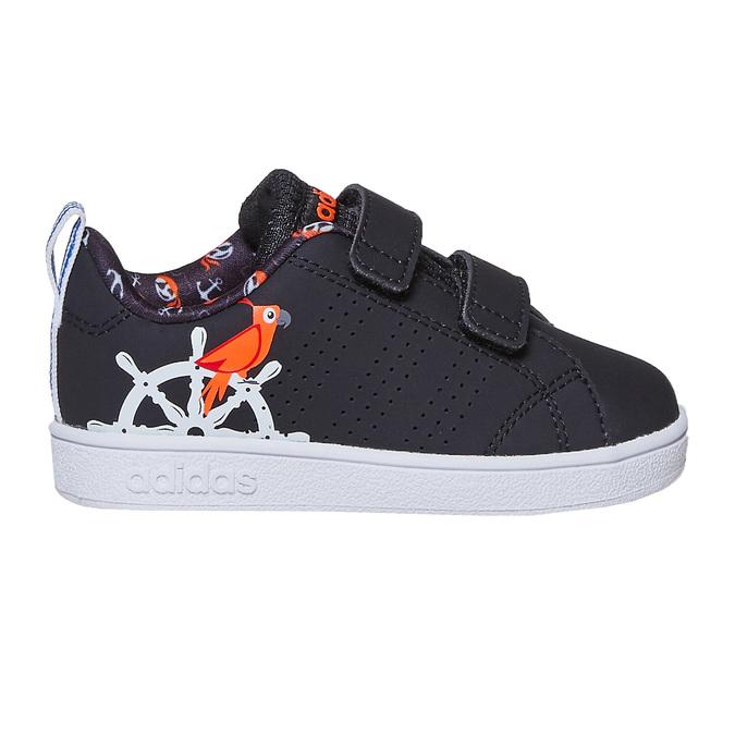 Trampki dziecięce znadrukiem adidas, czarny, 101-6133 - 15