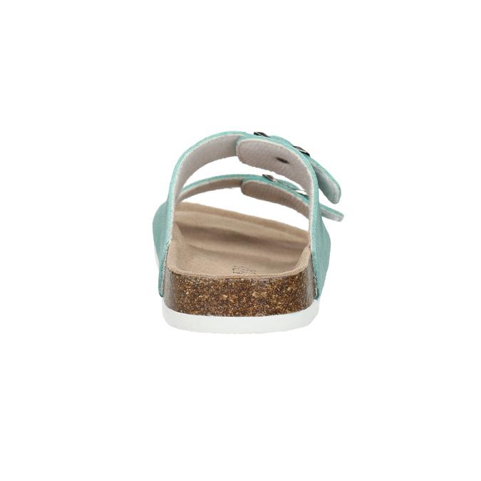 Błękitne skórzane kapcie de-fonseca, 573-7621 - 17
