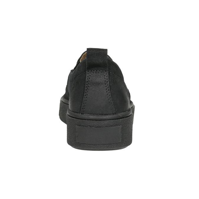Skórzane slip-on damskie bata, czarny, 516-6613 - 17