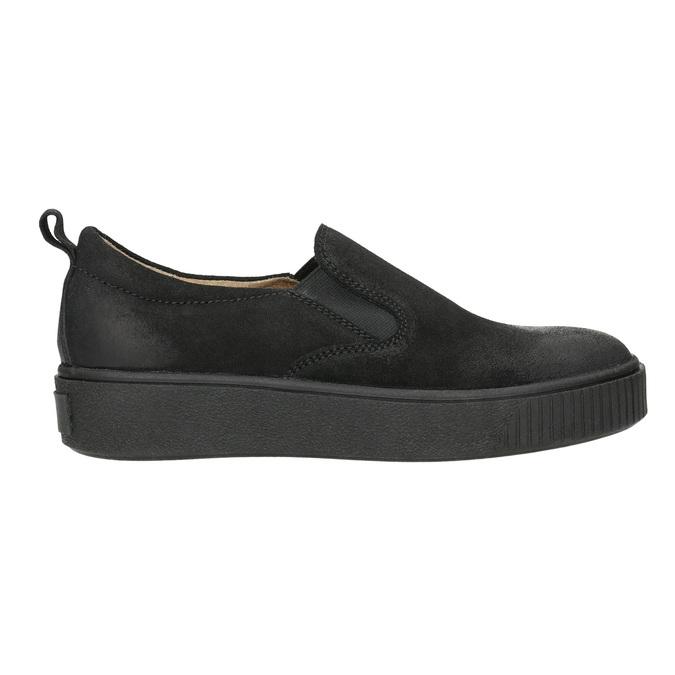 Skórzane slip-on damskie bata, czarny, 516-6613 - 15